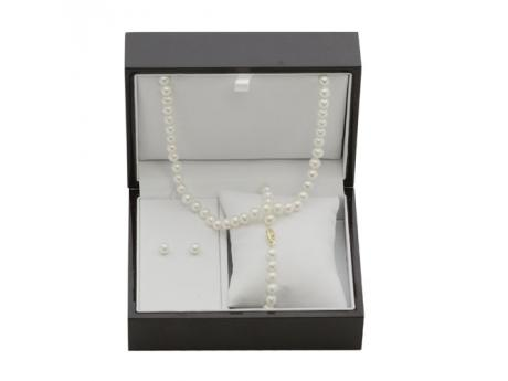 Gift the whole deal with a freshwater pearl set that includes a cultured pearl necklace, earrings, and bracelet. Buy yours today for a long-lasting impression.